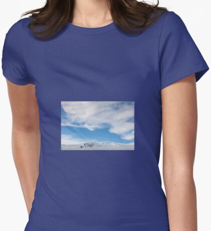 Snowcapped Mountains, Iceland Womens Fitted T-Shirt