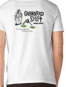 Graveyard Shift 50s Style Design Mens V-Neck T-Shirt