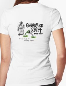 Graveyard Shift 50s Style Design Womens Fitted T-Shirt