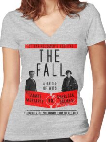 James Moriarty vs. Sherlock Holmes Women's Fitted V-Neck T-Shirt