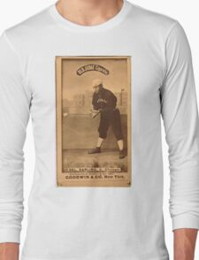 Benjamin K Edwards Collection Dell Darling Chicago White Stockings baseball card portrait 001 Long Sleeve T-Shirt