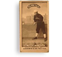 Benjamin K Edwards Collection Dell Darling Chicago White Stockings baseball card portrait 001 Canvas Print
