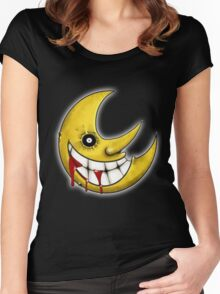 Soul Eater Moon  Women's Fitted Scoop T-Shirt