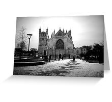 A February Cathedral  Greeting Card