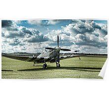 "Supermarine Spitfire ' A True Hero"" Poster"