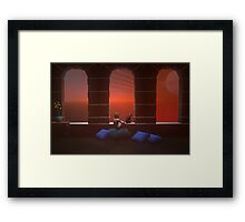 Molly and her cat Wimsey . . . the beginning Framed Print