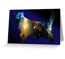 CELESTIAL CAT Greeting Card
