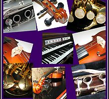 Wind and Strings Music Collage by BlueMoonRose
