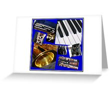 A Musical Miscellany Collage Greeting Card