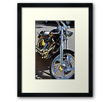 Coloured Chrome Framed Print