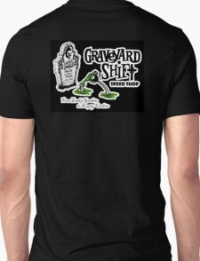 Graveyard Shift 50s Style Design Black T-Shirt