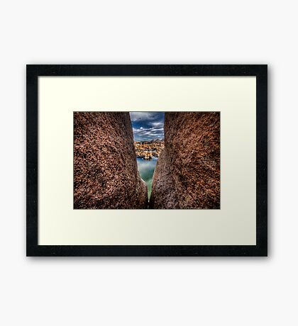 Rock City Peek Framed Print