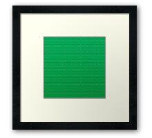 LEGO green Framed Print