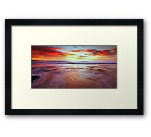 A Surfers' Moment Framed Print