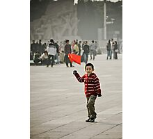 Young child on tian'anmen place Photographic Print