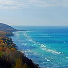 Panorama of Lake Michigan from Arcadia Overlook by North22Gallery