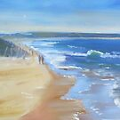 """Walk along Cronulla beach"" by Tash  Luedi Art"