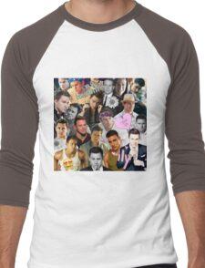 Channing Tatum Collage Men's Baseball ¾ T-Shirt