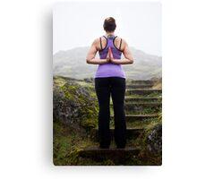 Frozen Yoga Canvas Print