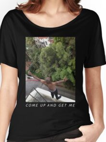 Ride's Rooftop Funtime Black Lineless Women's Relaxed Fit T-Shirt