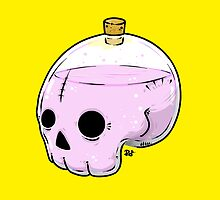 Bottle skull by crabro