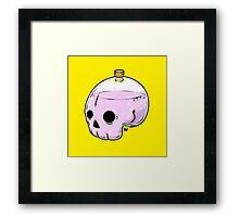 Bottle skull Framed Print
