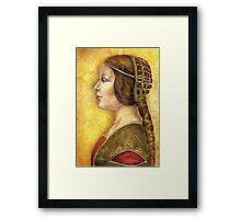 Homage to Da Vinci's Lost Princess Framed Print