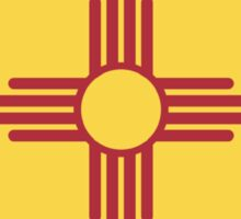 New Mexico State Flag - Euro Sticker Sticker