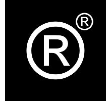 Dystopian Logos: Registered registered trademark Photographic Print