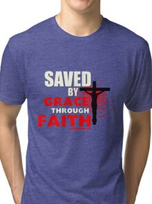Saved by His Grace Tri-blend T-Shirt