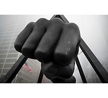 Joe Louis Detroit Fist in the Fog Photographic Print