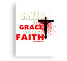 Saved by His Grace Canvas Print