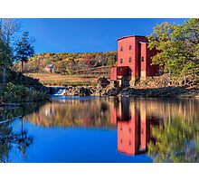 Autumn Comes to Dillard Mill Photographic Print