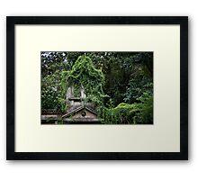 Urban Jungle Ruin Framed Print