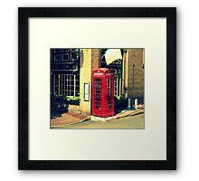 phonebooth Framed Print