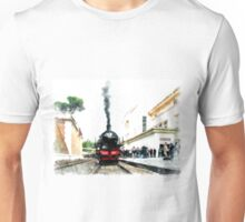 Locomotive in station Unisex T-Shirt