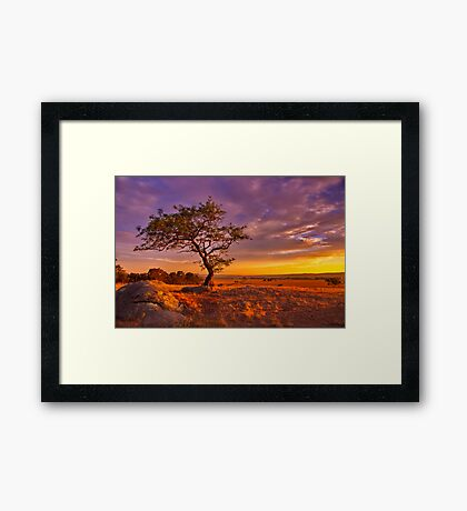 """""""Day's End At The Rocks"""" Framed Print"""