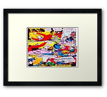 Comic cartoon Framed Print