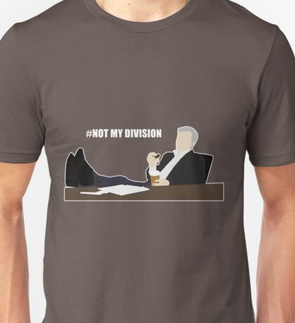 Not My Division - DI Lestrade (white text) Unisex T-Shirt