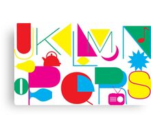 J to S Letters Canvas Print