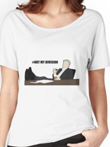 Not My Division - DI Lestrade (black text) Women's Relaxed Fit T-Shirt