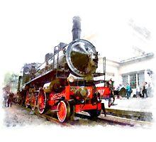 Steam locomotive Photographic Print