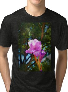 Purple bloom against the canopy Tri-blend T-Shirt