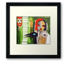 she is with me Framed Print
