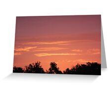 Pigeon Roost Prairie Sunrise Greeting Card