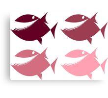 Pink Piranha Canvas Print