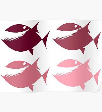 Pink Piranha Poster