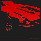 Datsun 240Z Detail - Red on black by uncannydrive