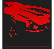 Datsun 240Z Detail - Red on black Photographic Print