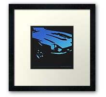 Datsun 240Z Detail - Blue on black Framed Print